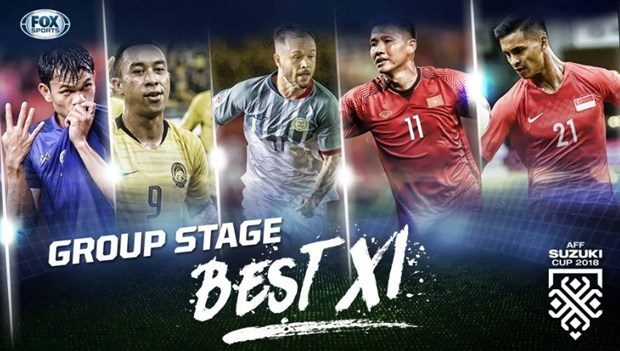 Two Vietnamese players listed in AFF Suzuki Cup group stage's best XI hinh anh 1