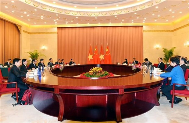 Vietnam Fatherland Front enhances ties with Chinese People's PCC hinh anh 1