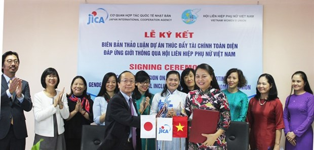 Japan helps to promote financial services for Vietnamese women hinh anh 1