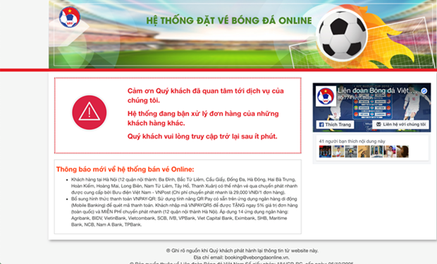 Online tickets for Vietnam-Philippines match sold out hinh anh 1