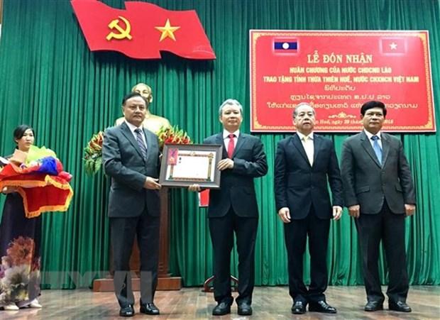 Thua Thien-Hue receives Laos' Labour Order hinh anh 1