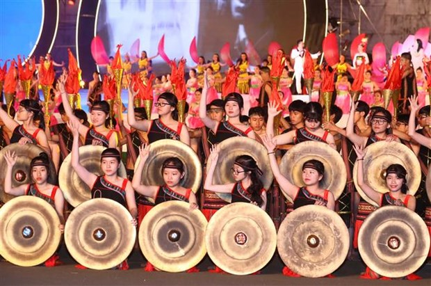 Activities of Tay Nguyen Gong Culture Festival 2018 started hinh anh 1