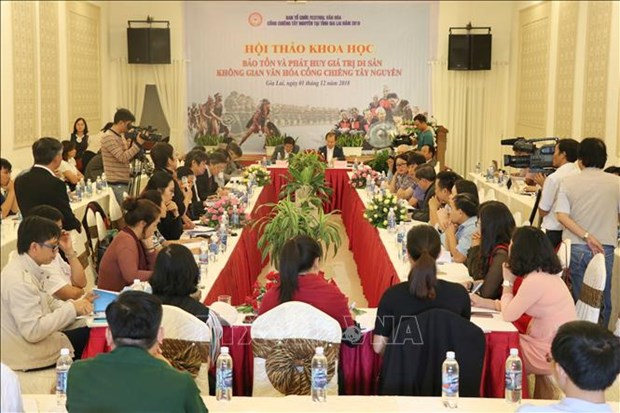 Solutions sought to preserve Tay Nguyen gong culture hinh anh 1