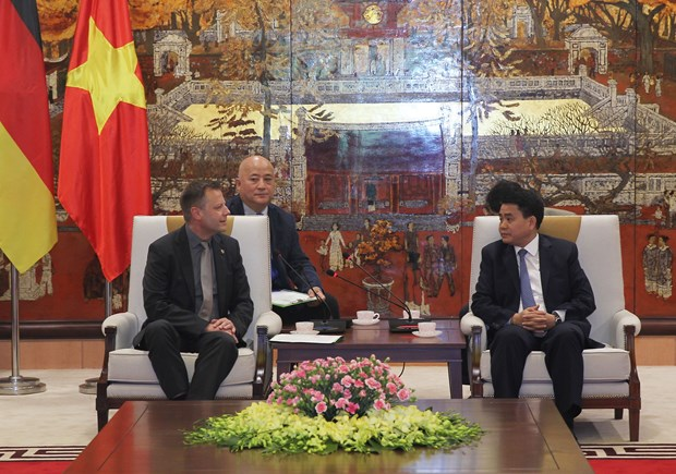 Leipzig delegation seeks investment opportunities in Hanoi hinh anh 1
