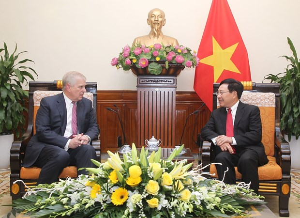 Prince Andrew's visit gives boost to Vietnam-UK ties: Deputy PM hinh anh 1