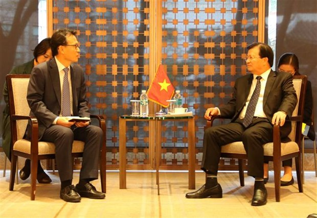 Deputy PM Trinh Dinh Dung busy with meetings in RoK hinh anh 1