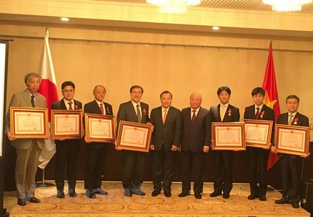 First class order bestowed upon Japanese national health centre hinh anh 1