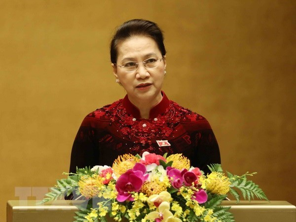 NA Chairwoman leaves for official visit to Republic of Korea hinh anh 1