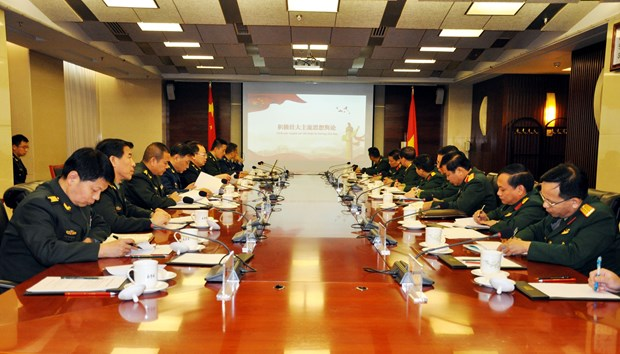 Vietnamese, Chinese armies boost political cooperation hinh anh 1