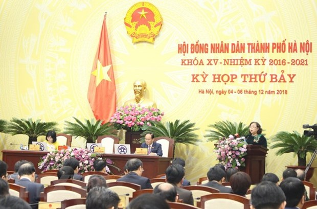 Hanoi People's Council conducts vote of confidence hinh anh 1