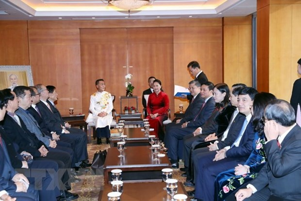 NA Chairwoman receives representatives of Ly families in RoK hinh anh 1