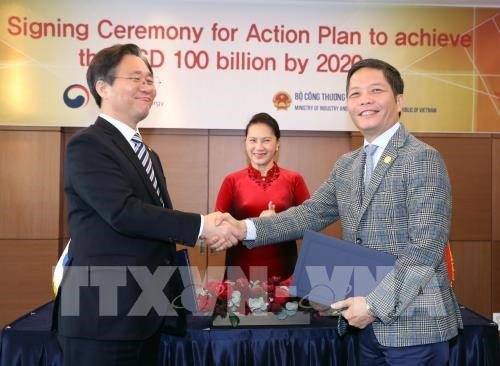 Vietnam, RoK ink action plan to lift bilateral trade to 100 bln USD by 2020 hinh anh 1