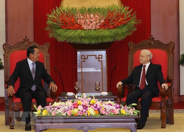 Vietnam treasures friendship, cooperation with Cambodia: Party leader hinh anh 1