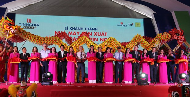 Major coffee factory inaugurated in Dong Nai province hinh anh 1