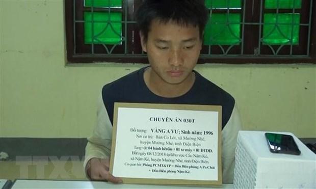 Heroin trafficker arrested in northern border Dien Bien province hinh anh 1