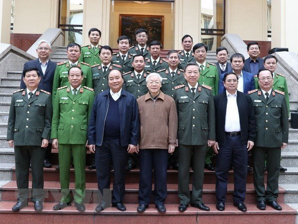 Central Public Security Party Committee reviews 2018 work hinh anh 1