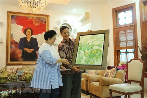 Vietnamese Ambassador meets leader of Indonesian party hinh anh 1