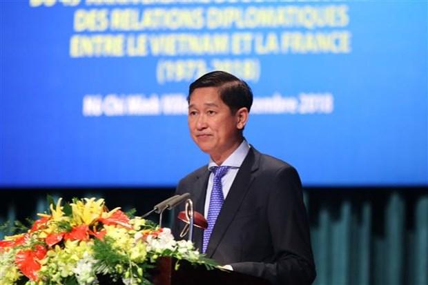 Ho Chi Minh City ceremony marks Vietnam-France diplomatic ties hinh anh 1