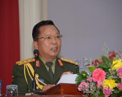 Lao Defence Minister promoted to General rank hinh anh 1