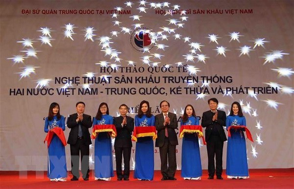 Vietnam, China share experience in promoting traditional stage art hinh anh 1