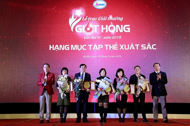 Award honours blood donation organisers hinh anh 1