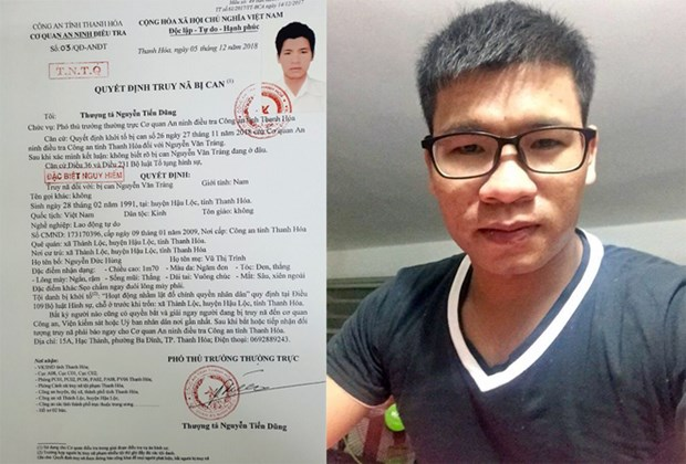 Thanh Hoa police hunt for man accused of overthrow attempt hinh anh 1
