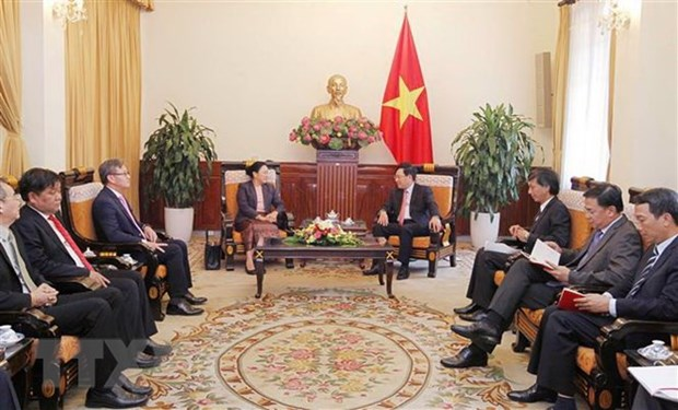 Ambassador lauds Vietnam-Laos ties ahead of Deputy PM's trip hinh anh 1