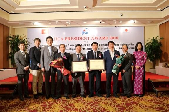 Vietnamese agencies honoured with JICA President Award hinh anh 1