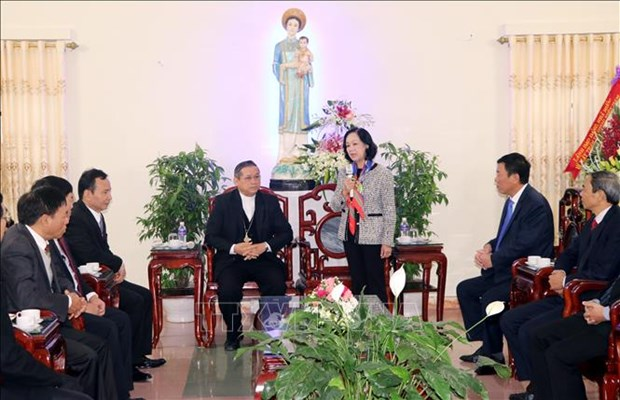 Christmas greetings sent to Catholics in Nam Dinh hinh anh 1