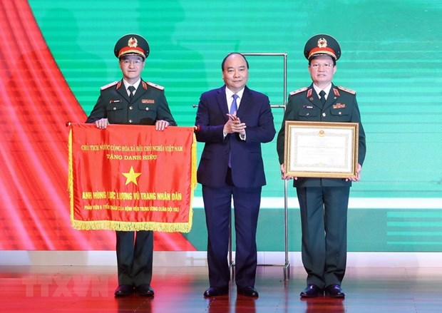 Military Central Hospital 108 honoured with heroic title hinh anh 1
