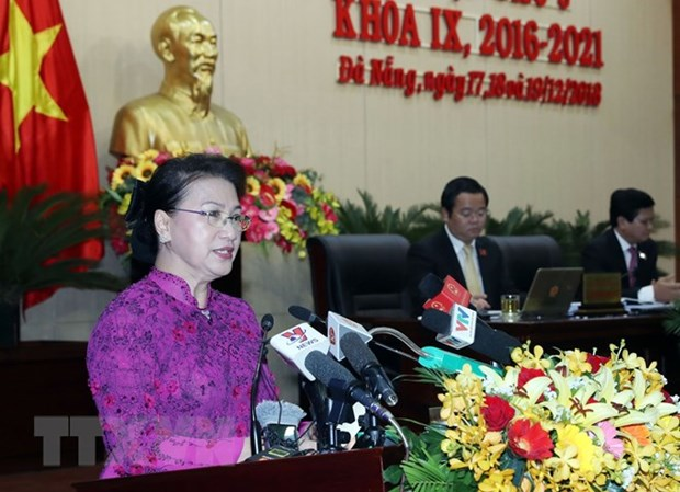 NA Chairwoman asks Da Nang to become smart city hinh anh 1