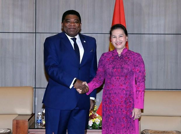 NA Chairwoman hosts IPU Secretary General hinh anh 1