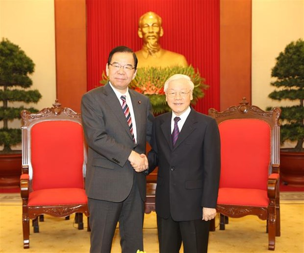 Party chief hosts Communist Party of Japan leader hinh anh 1