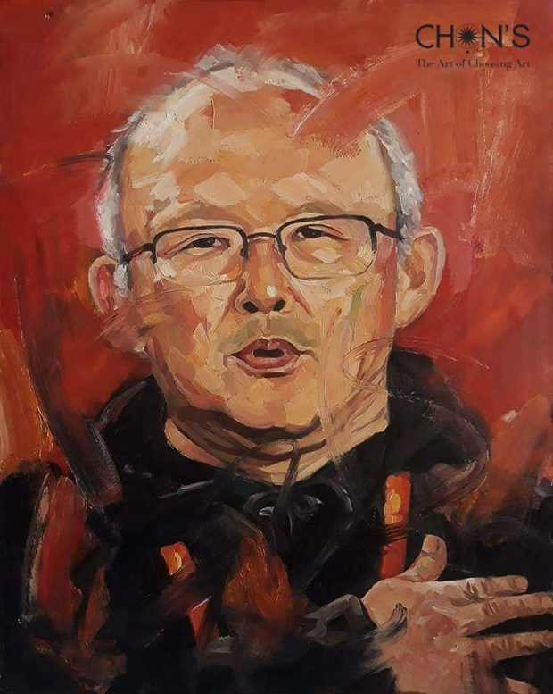 Oil portrait of coach Park Hang-seo to be auctioned hinh anh 1