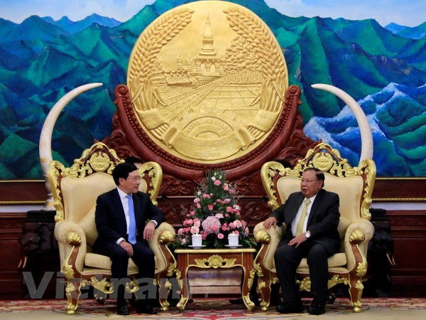 Deputy PM, FM Pham Binh Minh pays official visit to Laos hinh anh 1
