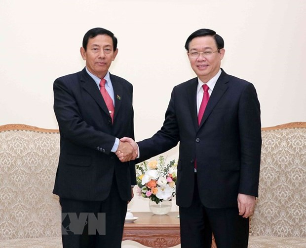 Myanmar Party contributes to enhancing cooperation with Vietnam hinh anh 1