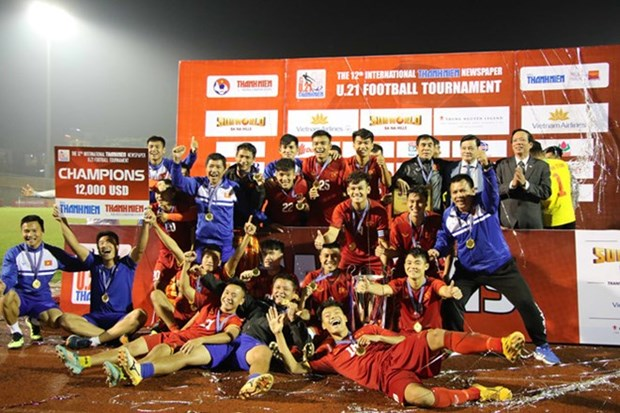 Vietnam win int'l U21 football tournament hinh anh 1