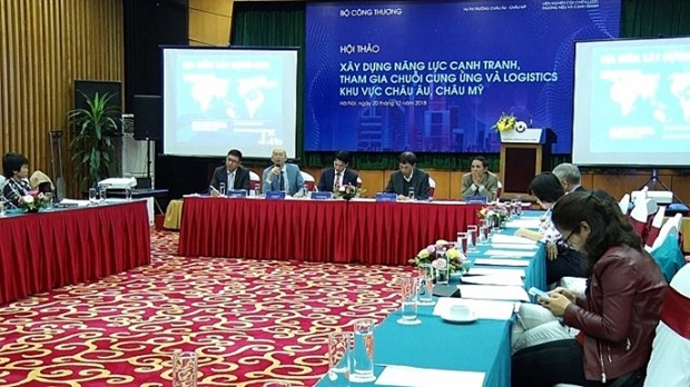 Workshop discusses ways to develop logistics services hinh anh 1