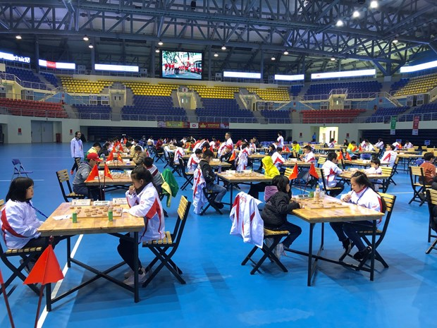 Vietnam leads in Asian youth chess champs 2018 hinh anh 1