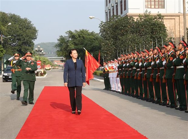 National Assembly Chairwoman visits Military Zone 1 hinh anh 1