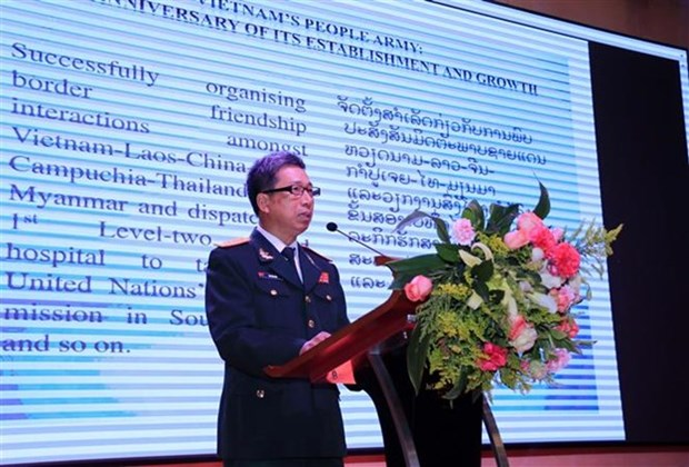 Vietnam People's Army founding anniversary marked in Laos hinh anh 1