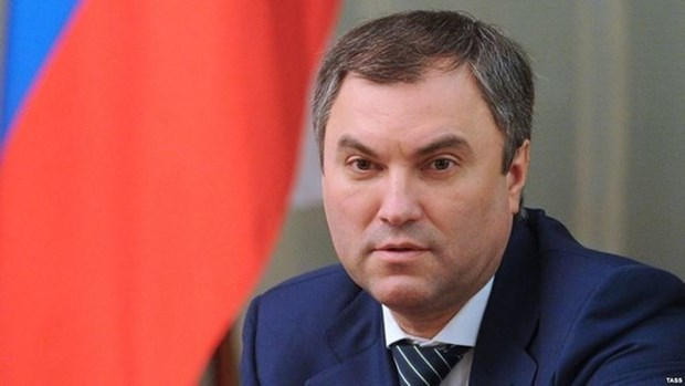 Russia's State Duma Chairman starts official visit to Vietnam hinh anh 1