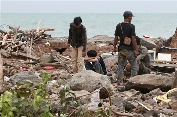 Indonesian President urges emergency steps in response to tsunami hinh anh 1
