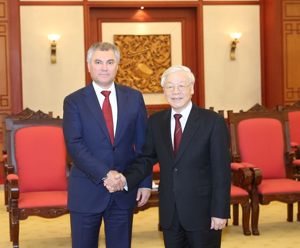 Vietnam treasures partnership with Russia: top leader hinh anh 1