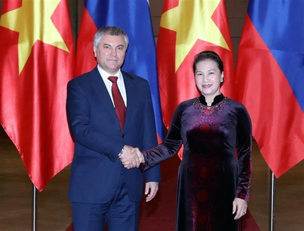 State Duma Chairman wraps up official visit to Vietnam hinh anh 1