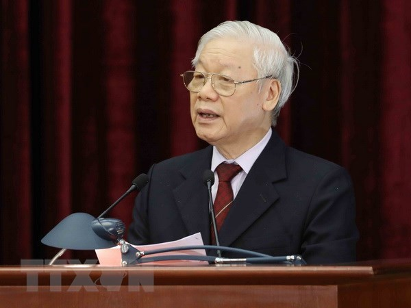 Party Central Committee's 9th plenary session closes hinh anh 1