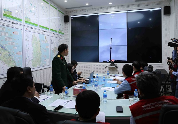 Joint operation of natural disaster early warning system tested hinh anh 1