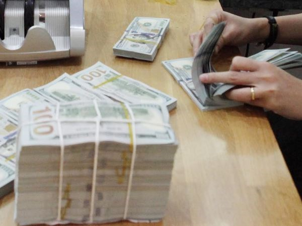 Reference exchange rate rises 5 VND hinh anh 1