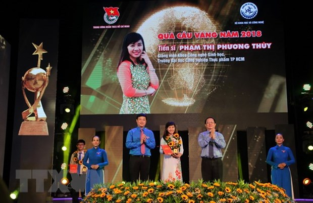Young science-technology talents honoured with Golden Globe Awards hinh anh 1