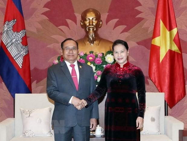 NA Chairwoman meets Cambodian Senate Vice President hinh anh 1